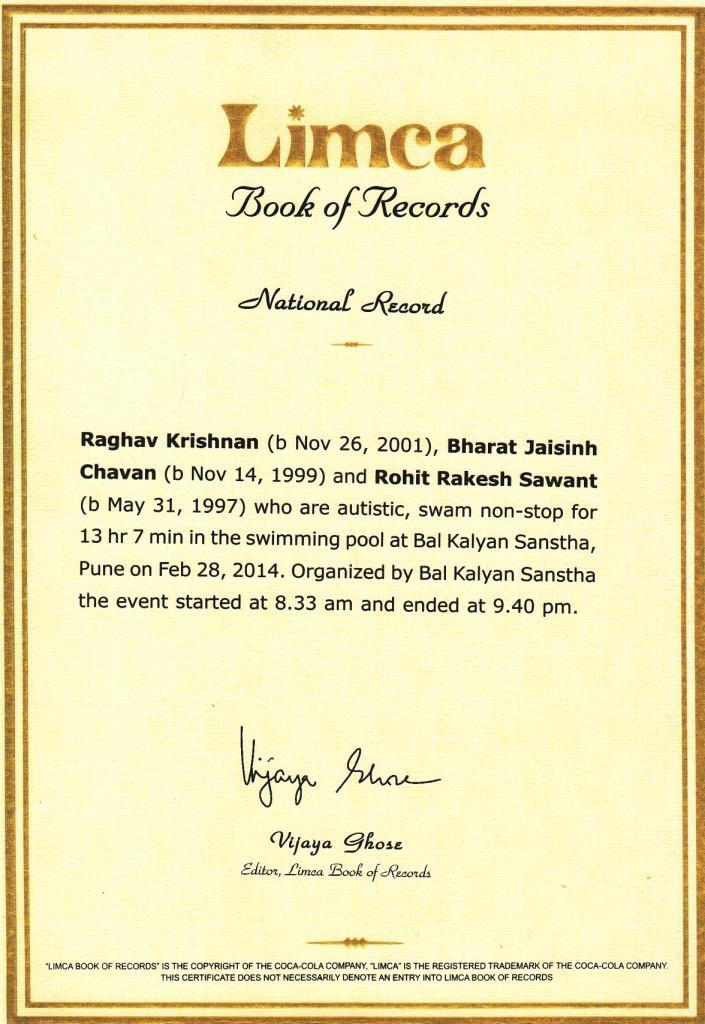 limca record certificae